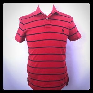 Polo Ralph Lauren red navy stripes short sleeves S